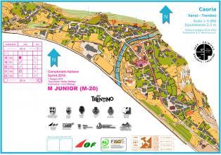 Campionato italiano sprint 2016 - Mappe di gara